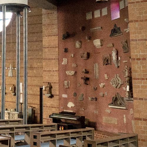 Innenansicht der Kirche St. Marien in Hamm Detail